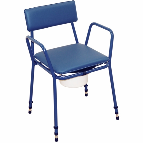 Aidapt Essex Stacking Adjustable Height Commode Chair Blue - VR161BL