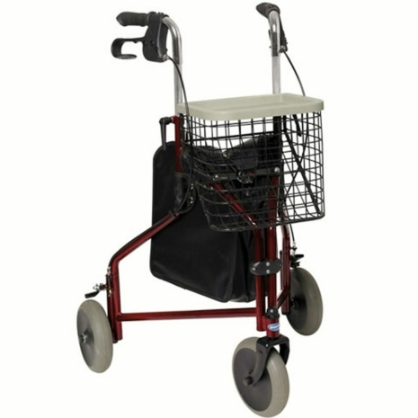 Invacare Delta Lightweight Tri Walker 3 Wheel Walking Frame Bag ...