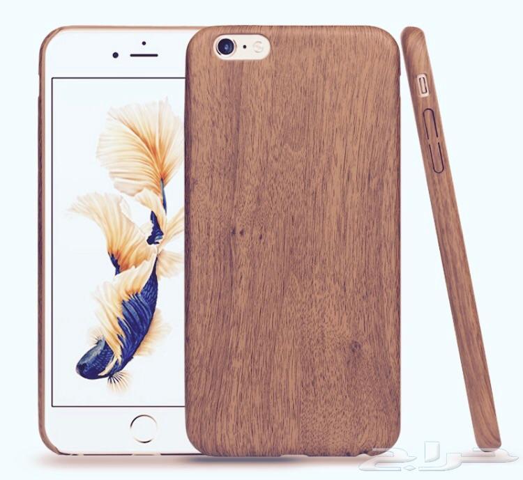 كفر ايفون 7 و 6 مخمل خشبي