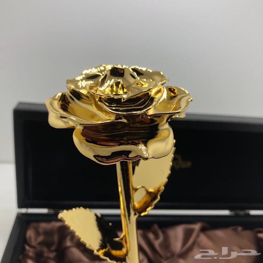 هدية فاخرة وانيقة وردة الذهب الثقيلة