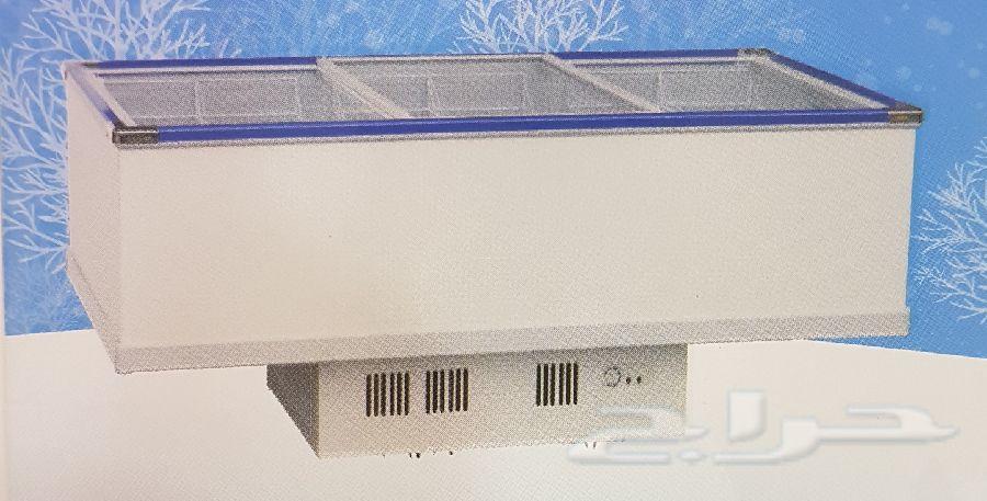 فريزر بانكول مسطح سحاب أفقي زجاج 3 متر