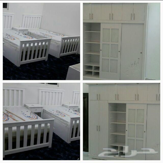 تفصيل غرف نوم ودواليب ذاويه حسب الطلب
