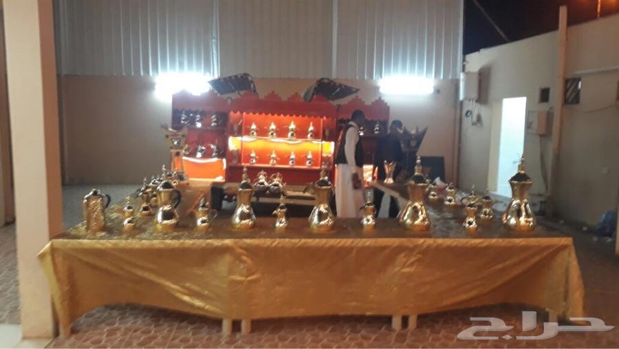عربة متنقلة للقهوه والشاي للمناسبات