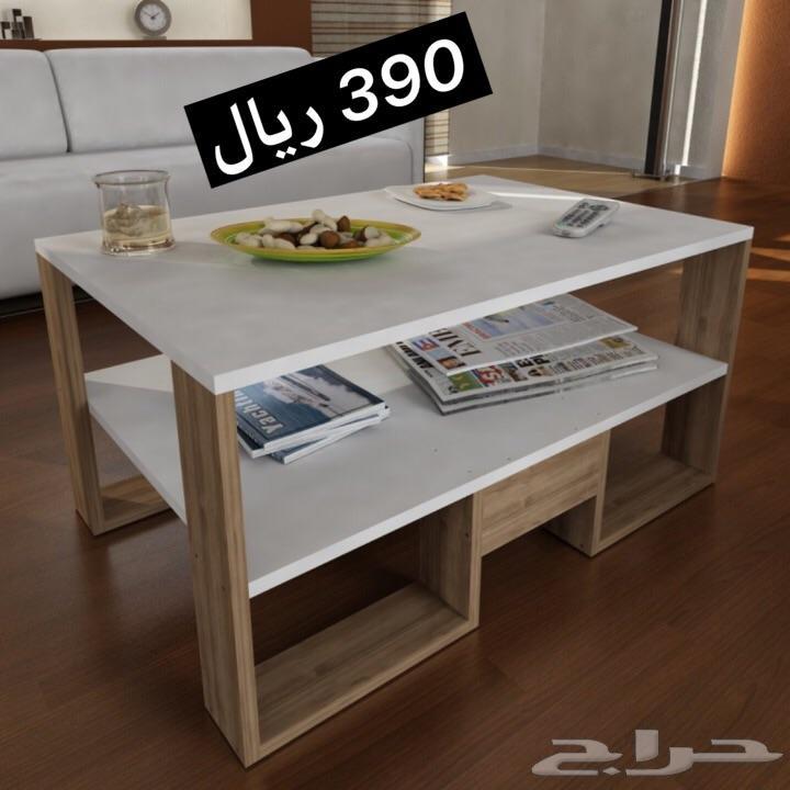 طقم طاولة التلفزيون مع طاولة القهوة