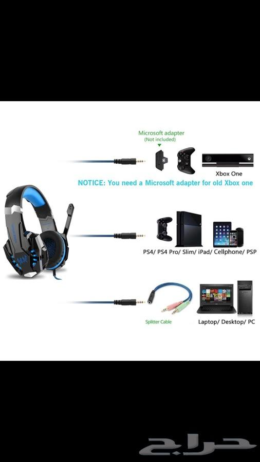 ps4- XBox - laptop  سماعات محيطية