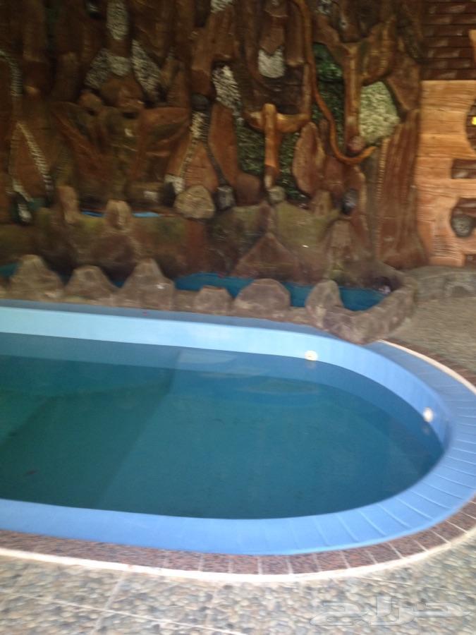 استراحة بمسبح للايجار يومي اسبوعي العرفا