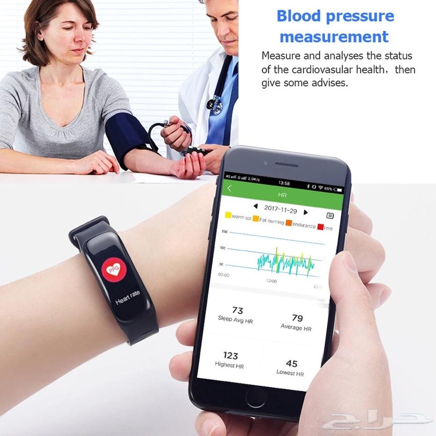 ساعة وإسورة ذكية لقياس الضغط القلب الخطى