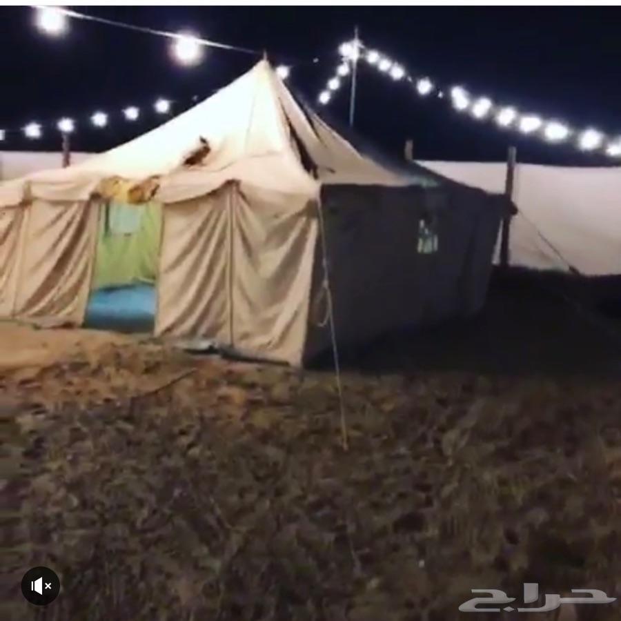 مخيم كامل للبيع (الأغراض فقط بدون الموقع
