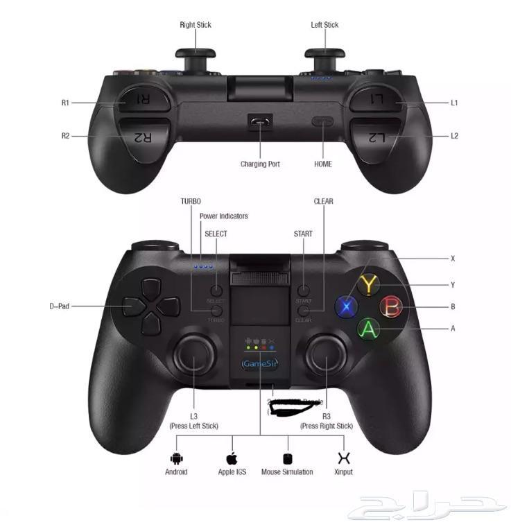 يد تحكم نوع gamesir t1S  ايفون و