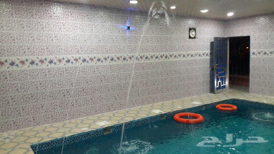 استراحة للايجار مسبح ألعاب شباب وعوايل350ريال