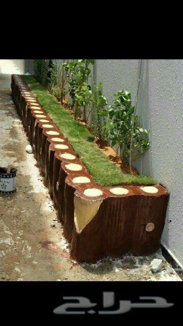 تنسيق حدائق حجر عشوائي ديكورات بحص وجزع شجرة