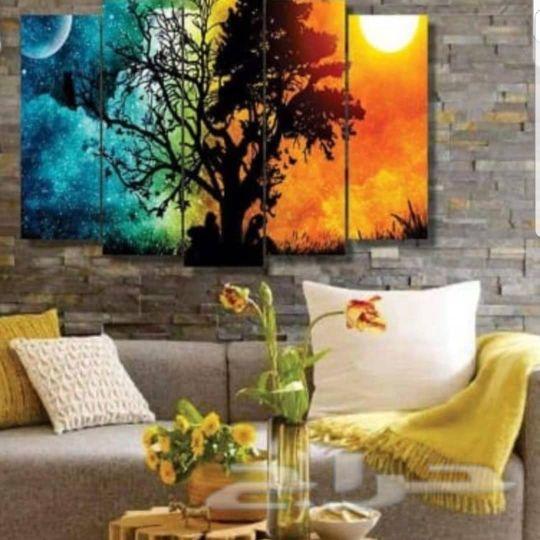 لوحات مقطعة  خشب مكفول