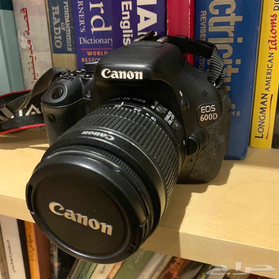 كاميرا كانون إحترافية للبيع   Canon 600D