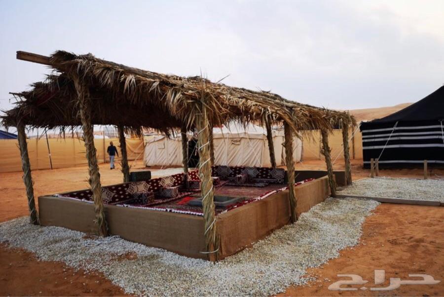 للايجار مخيم عائلي قسمين ذو خصوصية