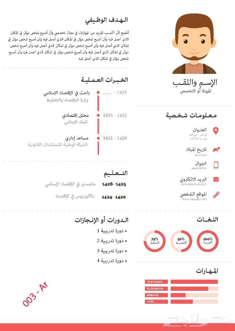 Arabic CV 001