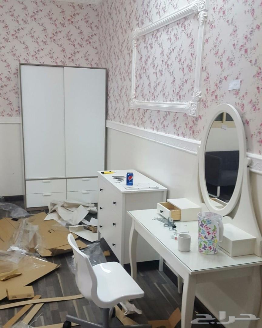 فني نجار تركيب غرف نوم و مطابخ و ستائرو ايكيا
