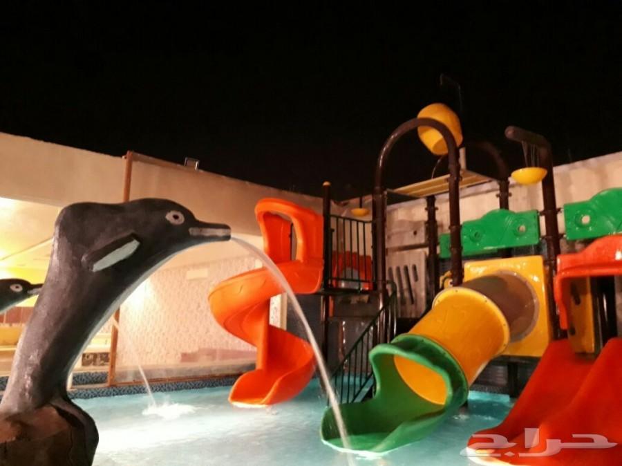 شاليهات الدلفين  للألعاب المائيه عروض خاصه.