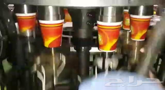 خط انتاج اكواب الكرتون (اكواب الشاي والقهوة)