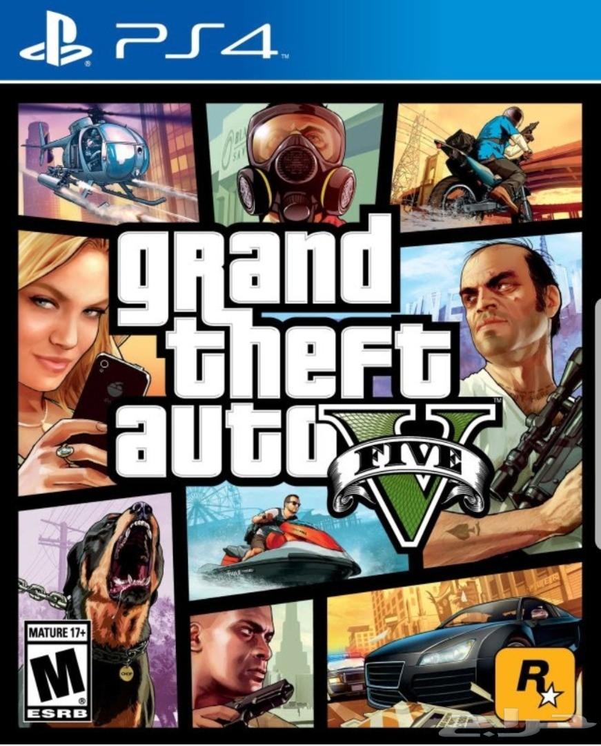 لعبة قراند 5 جديدة بغلاف المصنع GTA V