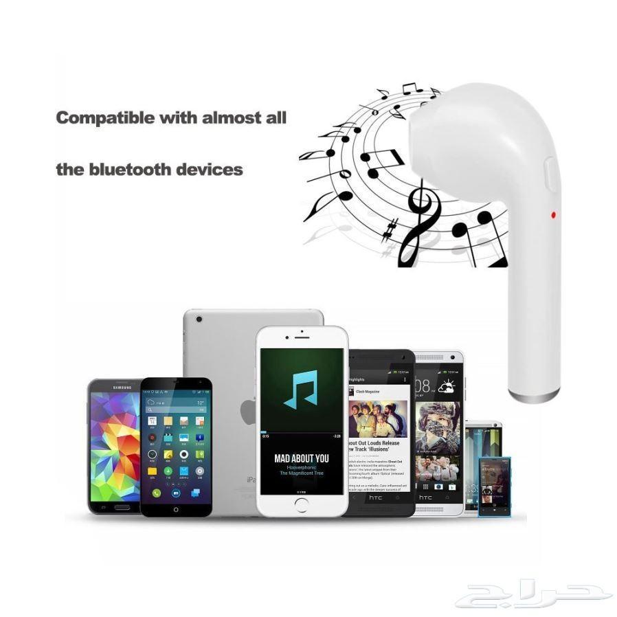 سماعة بلوتوث للآيفون وايرلس جهةوحدة Wireless