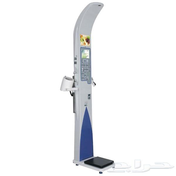 جهاز قياس الوزن والطول ونسبة الكوليستورول