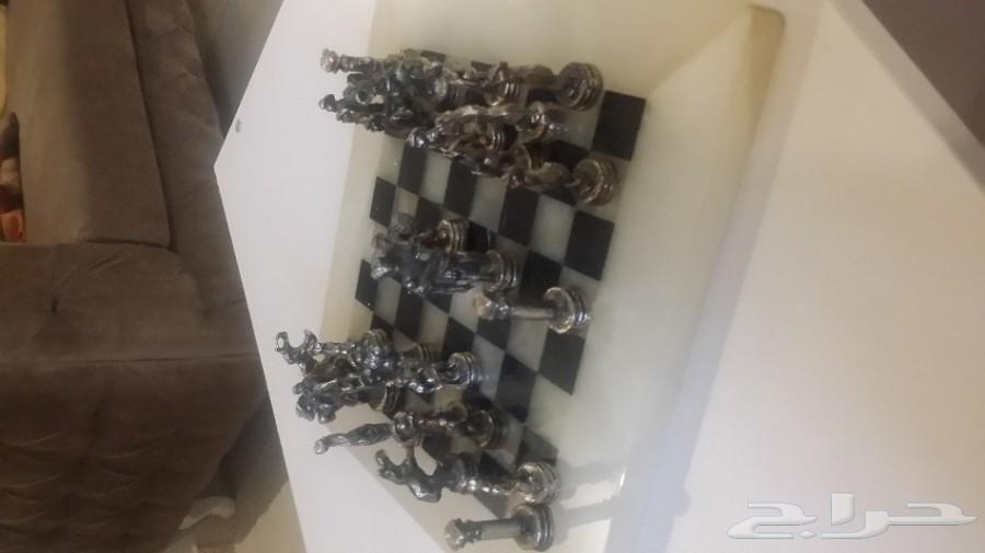 لعبه شطرنج رخام ..مطلي فضه