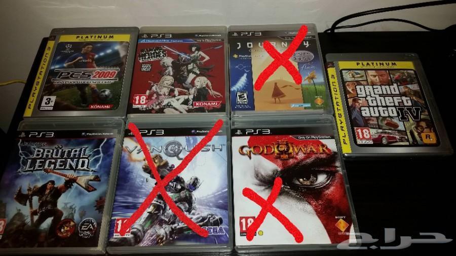 ألعاب PS3 سوني 3 نظيفة جدا مع كامل الملحقات