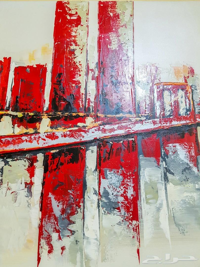 لوحة زيتية لنيويورك وجسر بروكلن Oil Painting