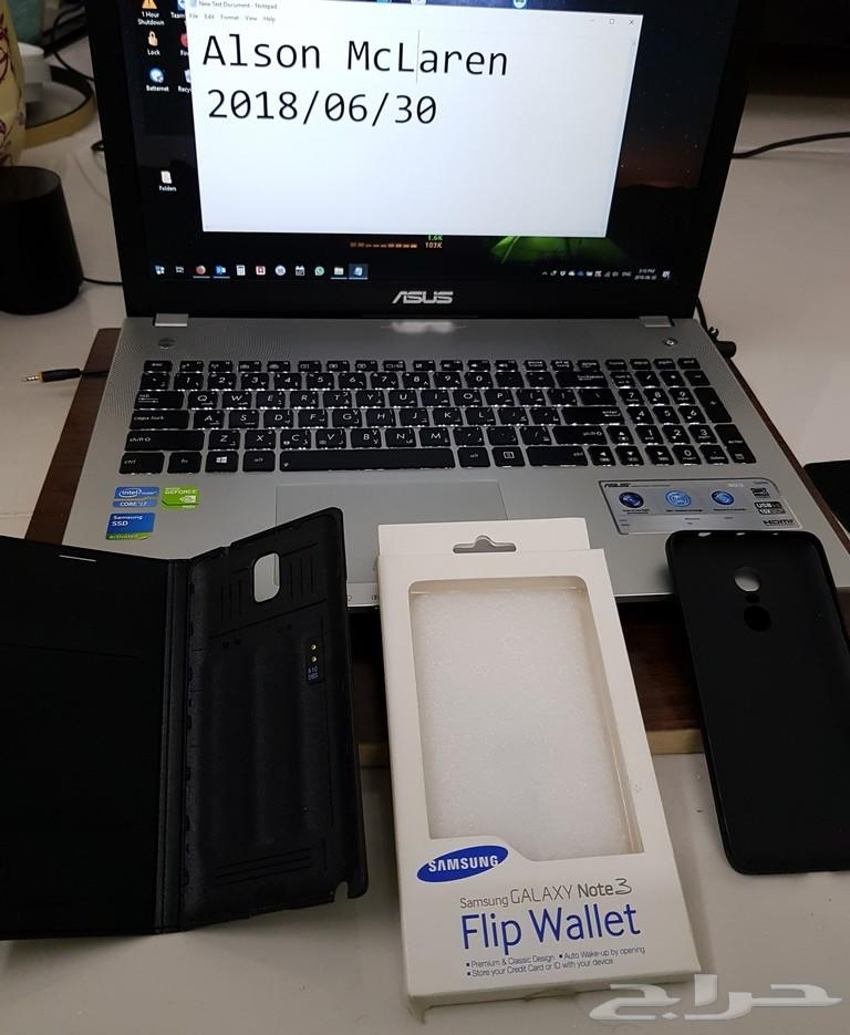 كفر Samsung Note 3 Flip Wallet وكفر شاومي