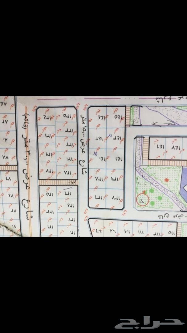 ارض للبيع 695.5م  شارعين بمدينة البشائر