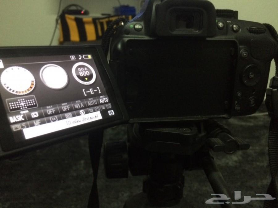 كاميرا نيكون الاحترافيه D5200 مع هدايا