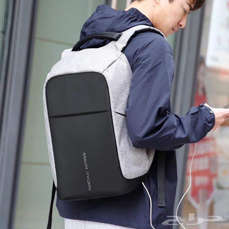 حقيبة الظهر ضد السرقة متعددة الوظائف شاحن يو