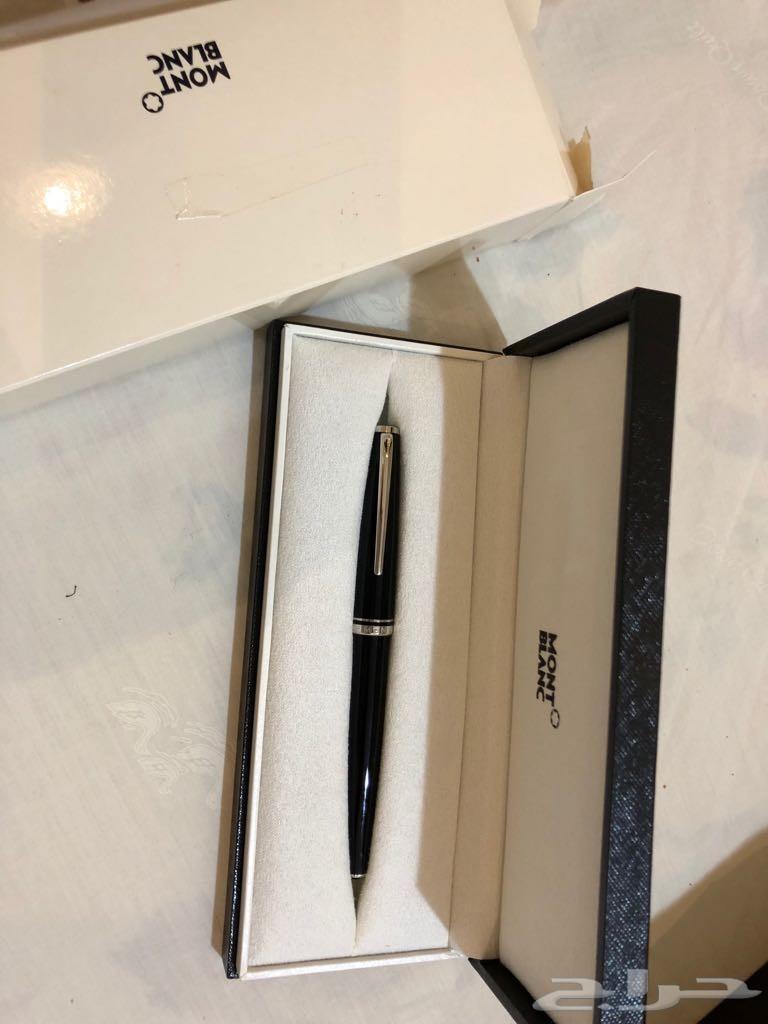 مباع ساعة  وقلم  اقنر  وقلم مونت بلانك( أصلي)