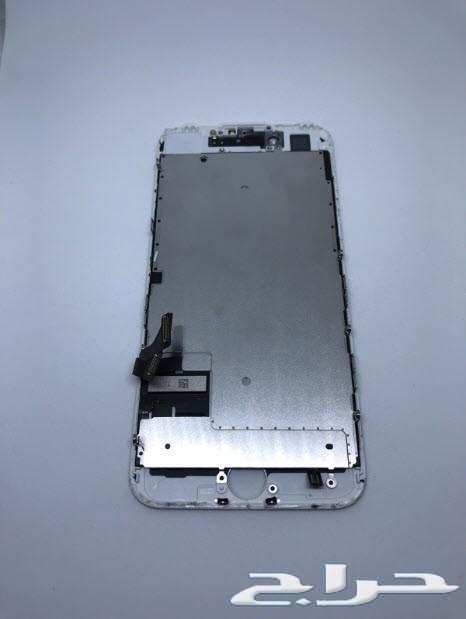 3cc73a74a حراج الأجهزة | شاشة ايفون iPhone 7 أصلية لون ابيض نظيفة