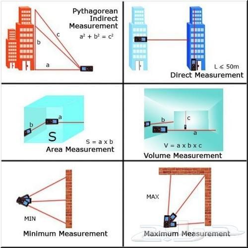 (المتر الالكتروني) قياس المسافة بالليزر(100M)