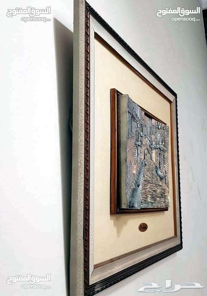 »  لوحة خشبية و مطلية بقشر الفضة
