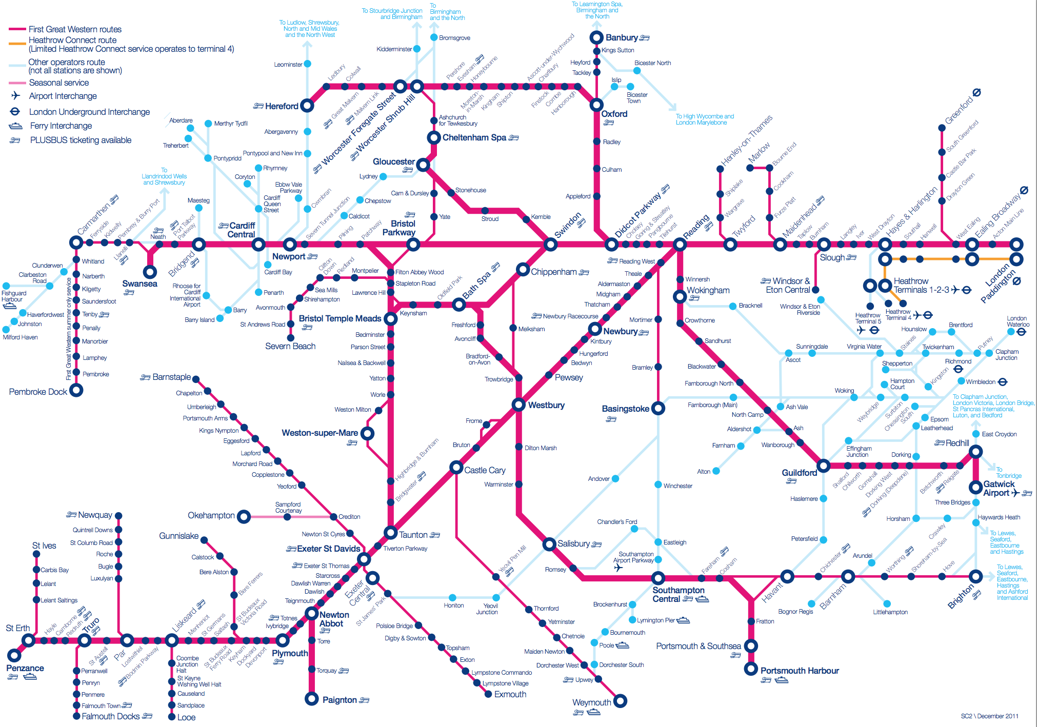 First Great Western Route Map First Great Western Train Strike | minicabit Blog