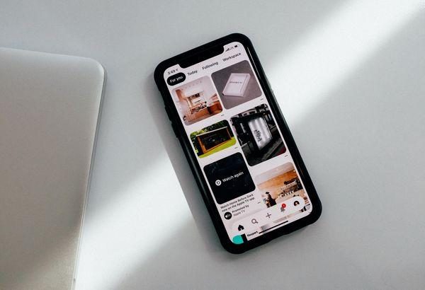 Schermata Pinterest su smartphone