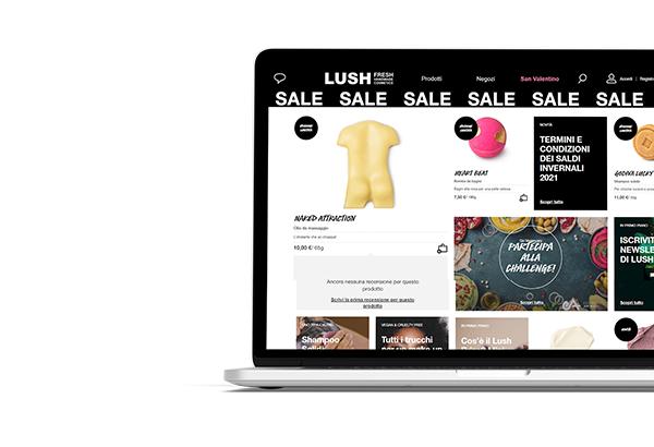 Computer con pagina web di e-commerce