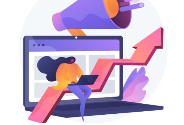 illustrazione del concetto di successo online