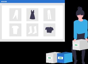 sito e-commerce con prodotti