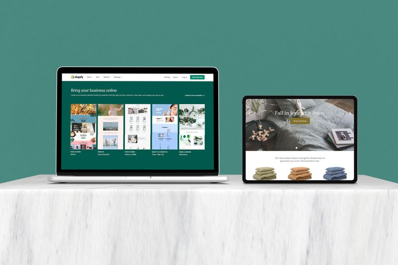 shopify schermate pc e tablet