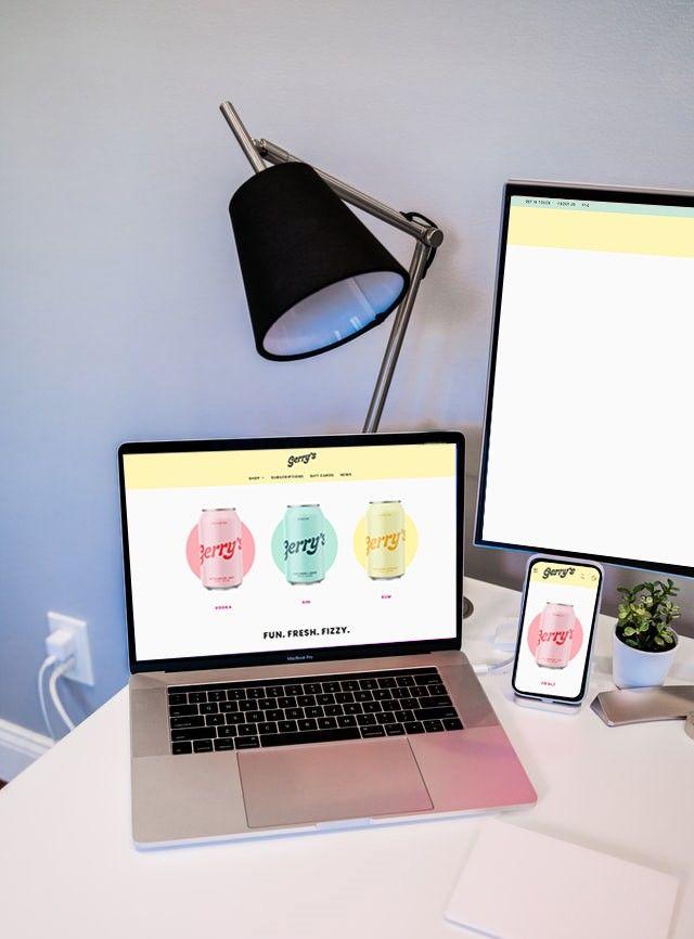sito web visto da schermo fisso, pc e tablet