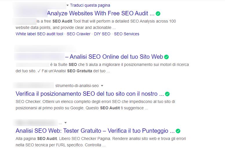 elenco seo audit gratis