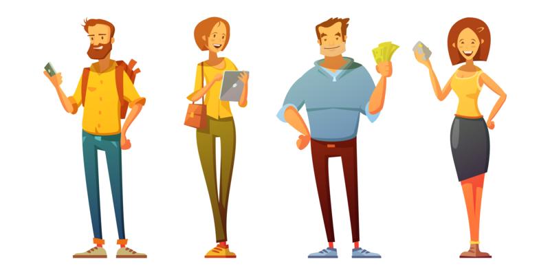 illustrazione di diverse buyer personas