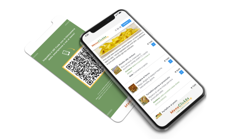 Menuclick menu digitale da telefono