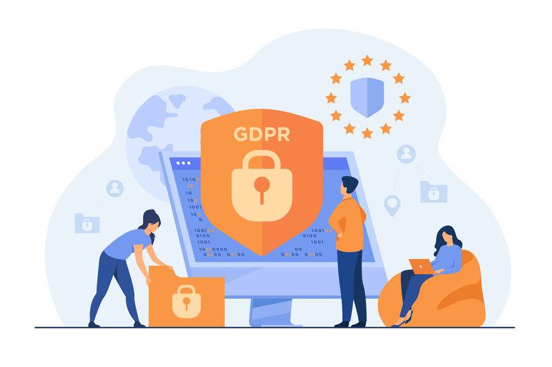 piccole persone proteggono i dati aziendali e le informazioni legali
