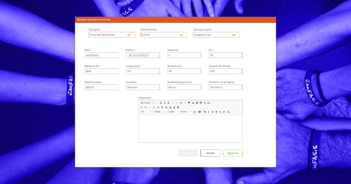 esempio di form project telling