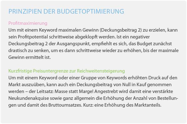 minubo eCOmmerce Reporting Budgetoptimierung