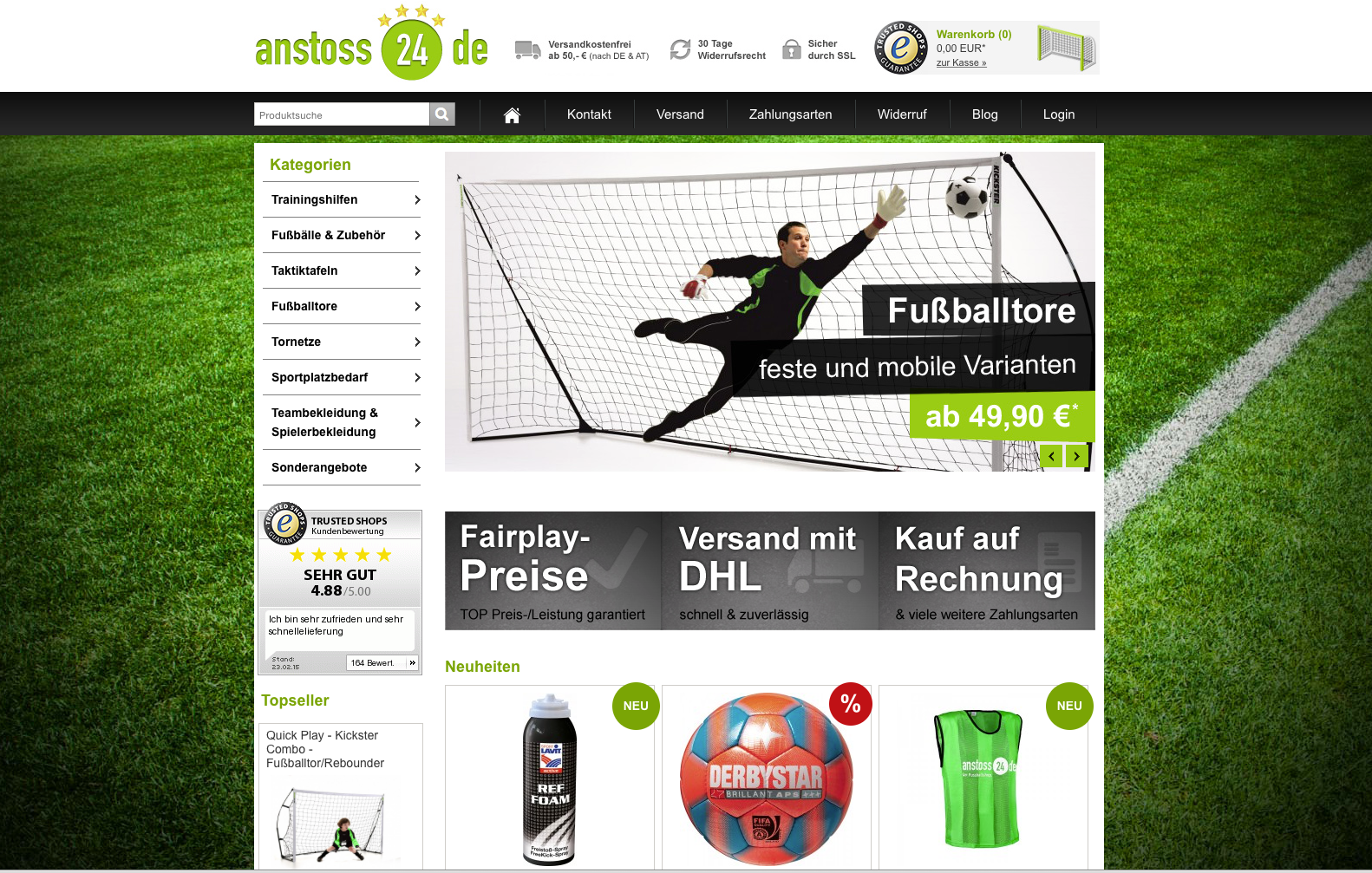 Anstoss24 Onlineshop